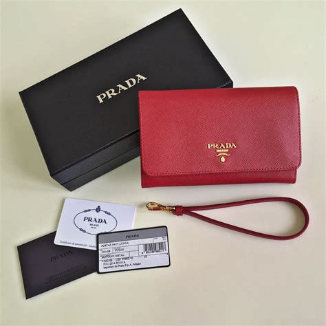 Prada Wallet Preloved the green suitcase prada saffiano metal fuoco wristlet store powered by storenvy