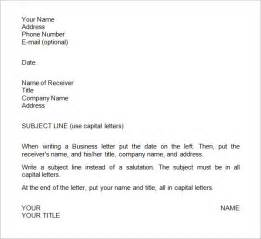 Business Letters In Free Sle Business Letter Exle 7 Sles Exles Format