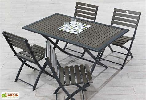 Salon De Jardin Pliant 2388 by Table Jardin Pliante Bois Composite Et Aluminium 140x80