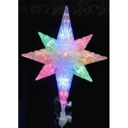 multi colored star tree topper 11 quot led lighted multi color bethlehem tree topper multi walmart