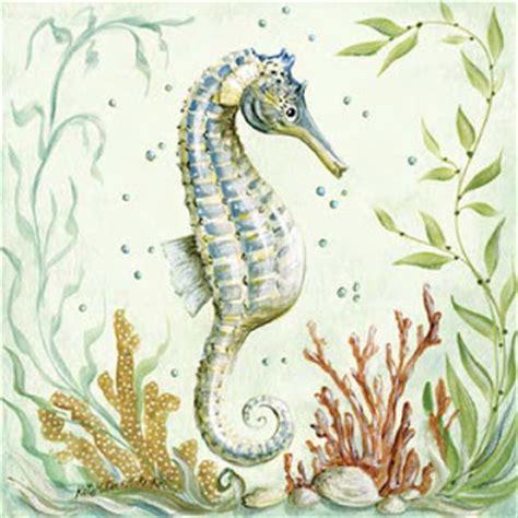 imagenes vintage mar dibujos caballitos mar para imprimir