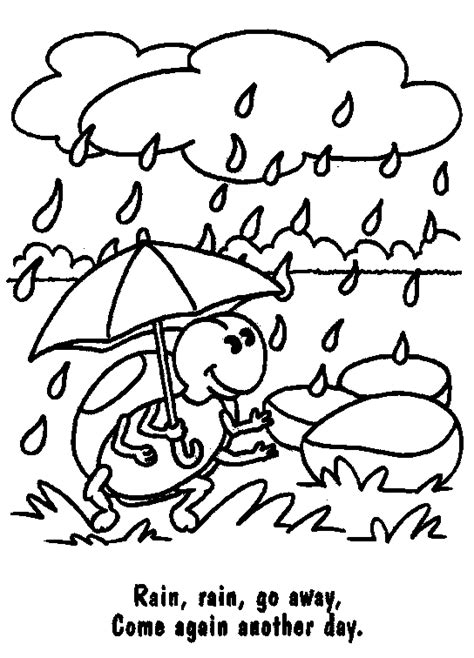 free coloring pages of drawing rainy day