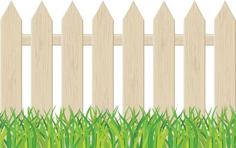 fence clipart backyard fence pencil   color fence
