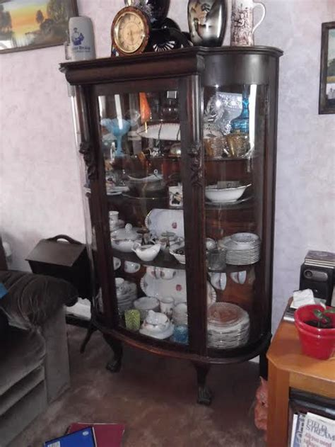 Curved Glass China Cabinet For Sale by Curved Glass China Cabinet Hutch For Sale Antiques
