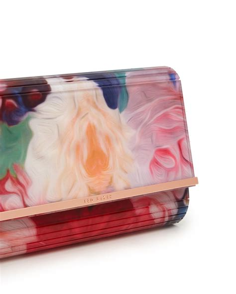 Floral Clutch ted baker floriza floral swirl resin clutch bag in purple