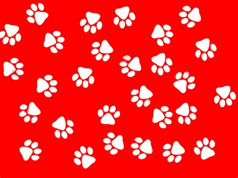 is a lourful red and white paw print background for your