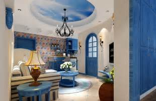 beautiful blue for mediterranean house interior interior
