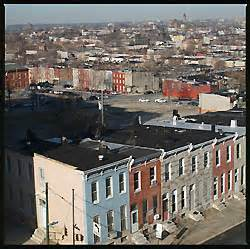 Row Houses Baltimore - the east side of baltimore city revive ghetto with biotech