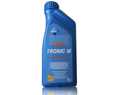 Aral High Tronic 5w 40 1 Liter 1 aral high tronic m 5w 40 1 liter dose b f schmierstoff gmbh