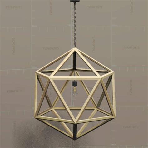 Pendant Light 3d Model Rh Polyhedron Pendant L 3d Model Formfonts 3d Models Textures