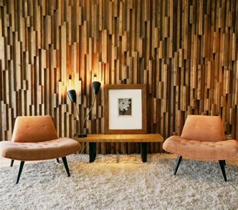 Wall Treatment Interior Design by Textured Wood Wall Mid Century Modern Interior Motives