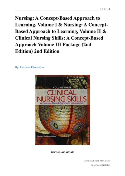 clinical nursing skills a concept based approach to learning volume 3 revised 2nd edition 2nd edition books nursing a concept based approach to learning volume i
