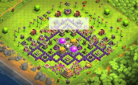 coc town hall 7 base images coc anti base town hall 7 hybrid th7 war farming