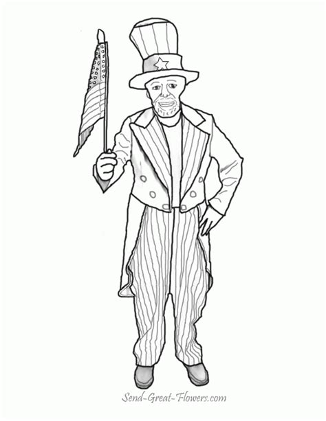 coloring page uncle sam uncle sam coloring page coloring home
