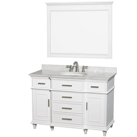 White Bathroom Vanity With Marble Top by Wyndham Collection Wcv171748swhcmunrm44 Berkeley Vanity