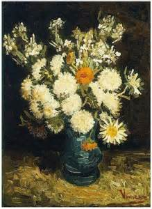 flowers in a blue vase vincent gogh 146 painting