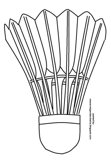 badminton mewarnai mewarnai gambar mewarnai gambar sketsa kok bulu tangkis