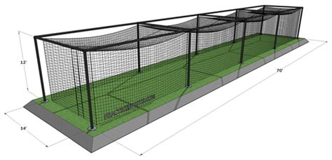 Backyard Batting Cage Plans Best Dimensions For A Baseball Batting Cage