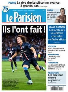 le parisien psg on quot la une de votre journal le