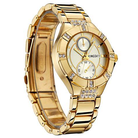 Jam Tangan Wanita Aesop White Fashion kingsky jam tangan fashion wanita ky056 white gold