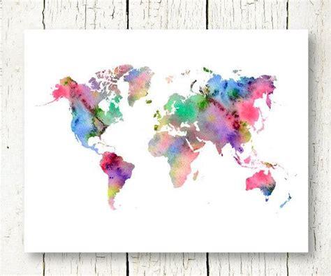Pochoir Carte Du Monde 7894 by World Map Watercolor Printable Watercolor World Map Instant