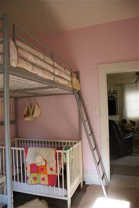 bunk bed with crib underneath loft bed with a crib underneath decor kid s rooms