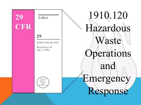29 cfr 1910 section 120 hazardous waste operations and emergency response