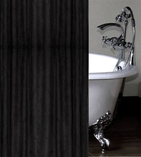 Black Shower Curtains Black Faux Suede Luxury Shower Curtain Custom Made