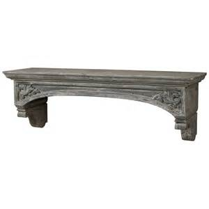 Mantel Shelves by Gray Washed Mantel Shelf Provence Style