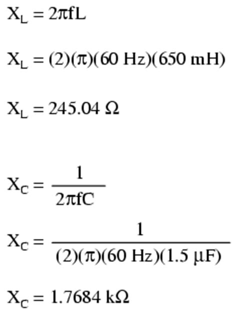 impedance equation for capacitor lessons in electric circuits volume ii ac chapter 5