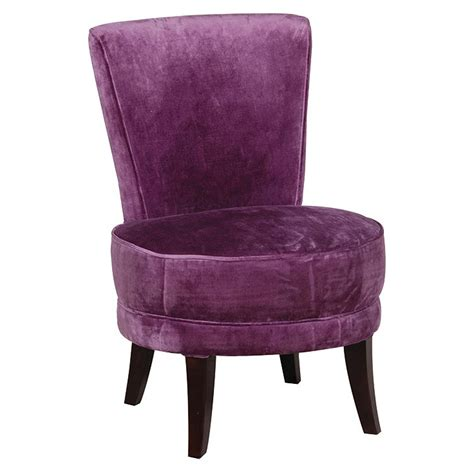 Velvet Accent Chair by Velvet Accent Chair Purple Achica