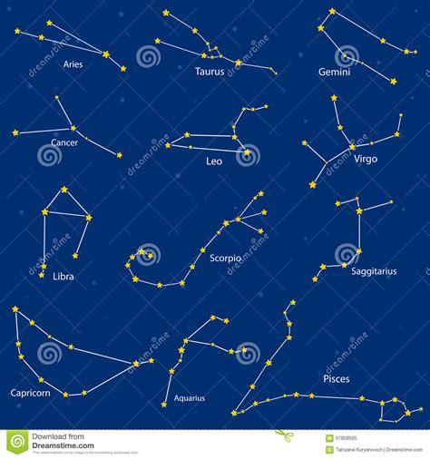 Sternzeichen Löwe Stier by Constellation Des Signes De Zodiaque Illustration