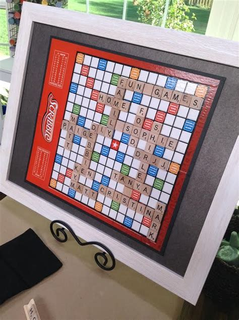 scrabble board for sale matt rogers makes a personalized framed scrabble board