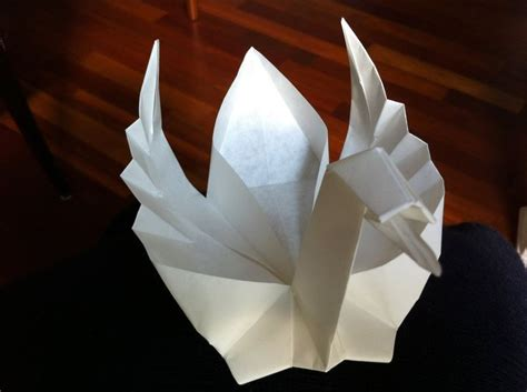 Swam Origami - origami floating swan paper folding tutorial