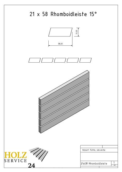 Holz Service 24 by Rhombusleisten Rhombusbretter Fassadenleisten Holz