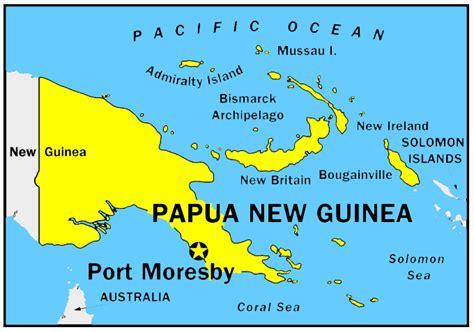 world map papua new guinea papua new guinea oceania