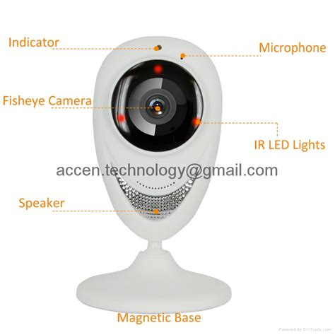 Ip Cctv Wifi P2p 180 Degree Gmc ec8 hd 720p mini wifi ip wireless p2p baby monitor network cctv security ace ec8 ace