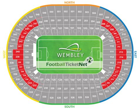 wembley stadium seating plan detailed layout mapaplan com fa cup final 2018 19 05 2018 football ticket net