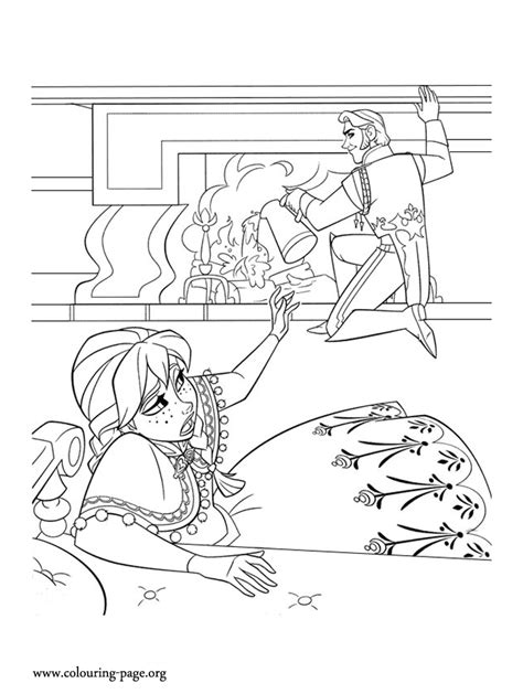 frozen story coloring pages frozen anna and hans having a disagreement coloring page