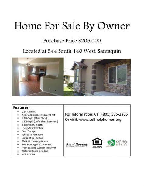 Home For Sale Flyer Template