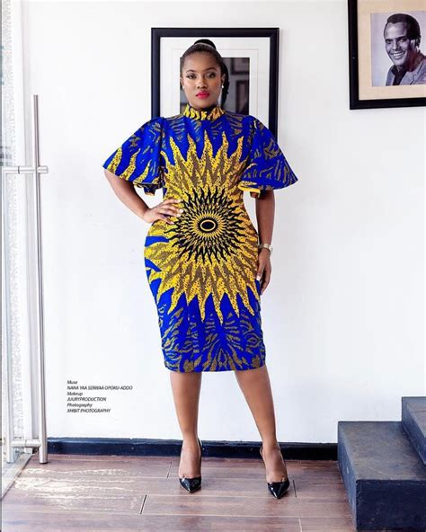 Simple Ankara Straight Gown