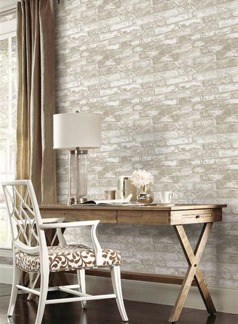 grey wallpaper accent wall brick wallpaper as of chic rustic accent in modern