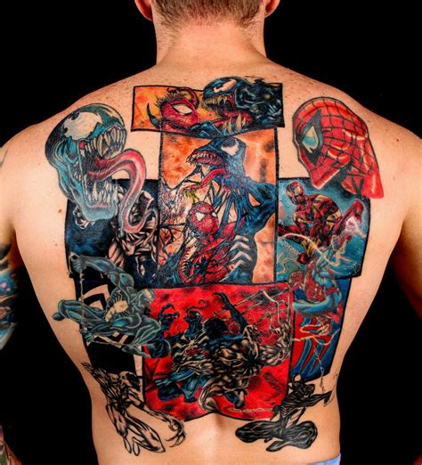 spider man tattoos it s a dan s world spider sense tingling venom vs
