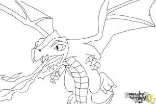how to draw clash of clans dragon drawingnow