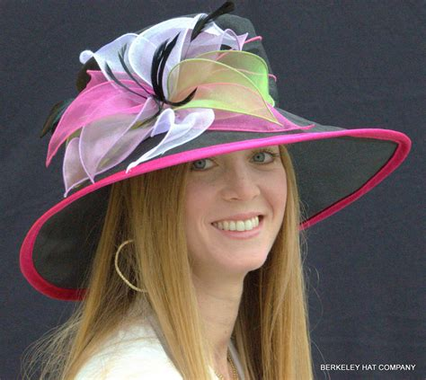 s organza kentucky derby hat with multicolored petals