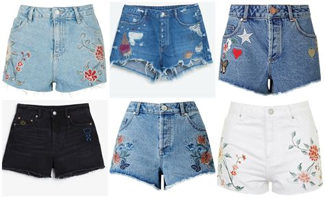 Denim Embroidered Shorts the embroidered shorts edit goes
