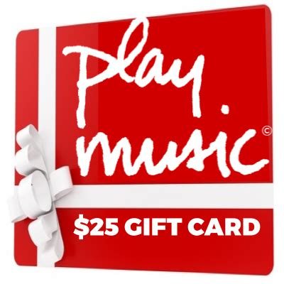 Music Gift Card - play music gift card