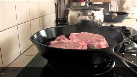 how to cook with cast iron youtube how to pan sear pork chops in cast iron skillet cast