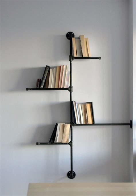 adorable 80 hanging book shelf design ideas of best 10 home accessories astonishing black pipe wall mount