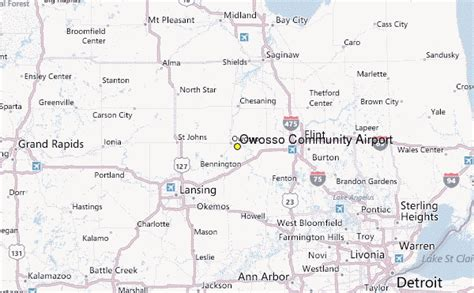 owosso mi map owosso community airport mi weather station record